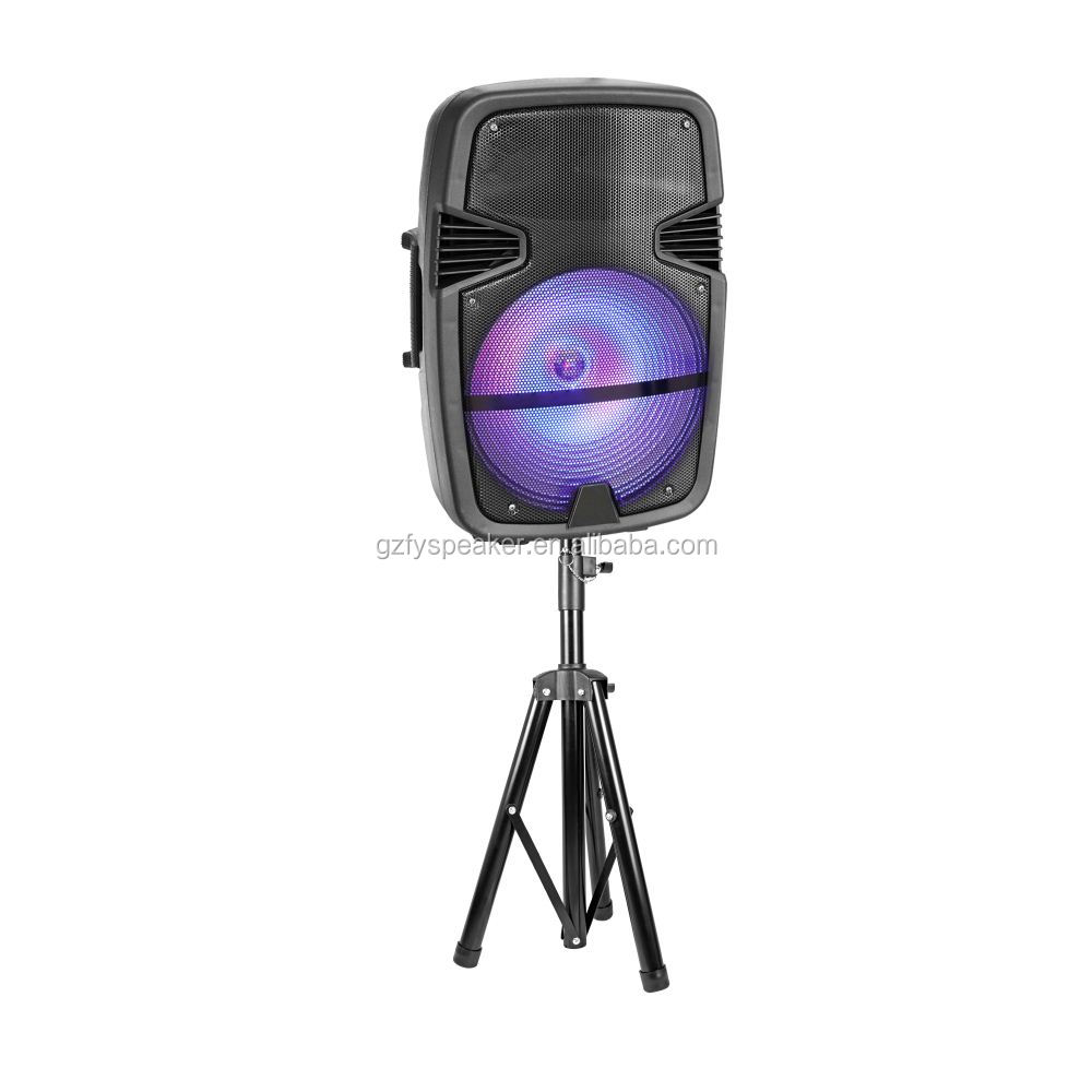 feiyang party speaker bocinas bt 15 inch for promotion with led light f-23m