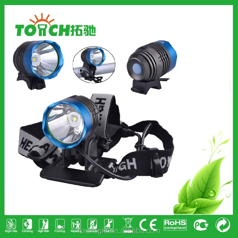 CRE E T6 LED High power Bicycle Bike Light Headlamp Headlight 1200Lm with 18650 Battery Pack 4400mAh