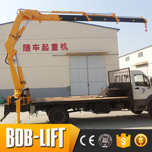 10 ton capacity lorry crane mounted on truck