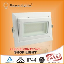High lumen competitive price adjustable led downlight rectangular 30w