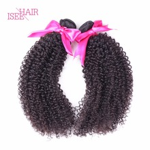 Indian Curly Virgin Hair Weaves Unprocessed Human Hair Extensions