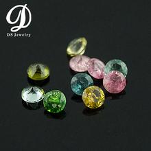 Cheap Jewelry Multi Color Round Brilliant Cut Natural Tourmaline Price