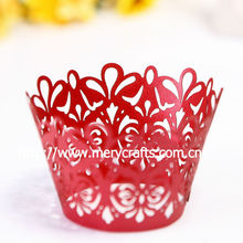 red apple flower party supply cupcake decoration
