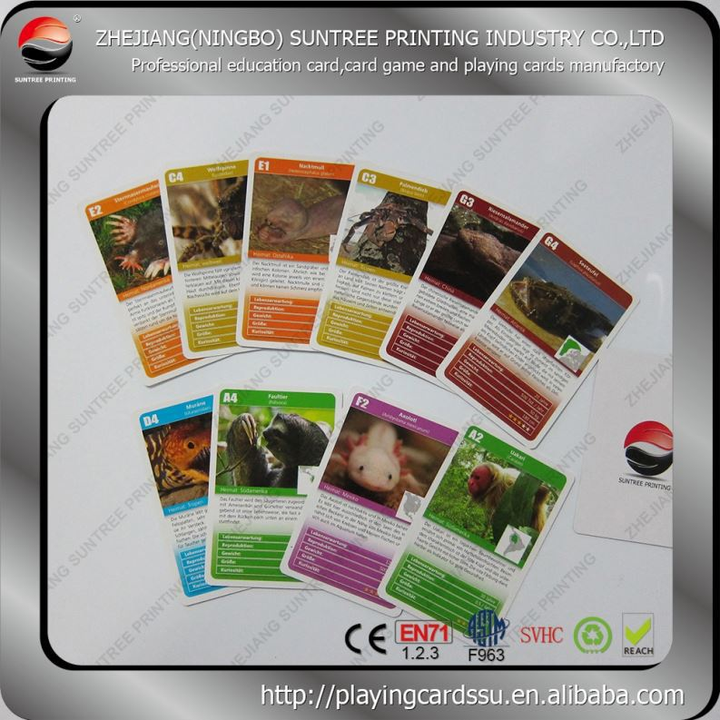 Low price and MOQ Puzzle Customized Game Trading Cards Printing