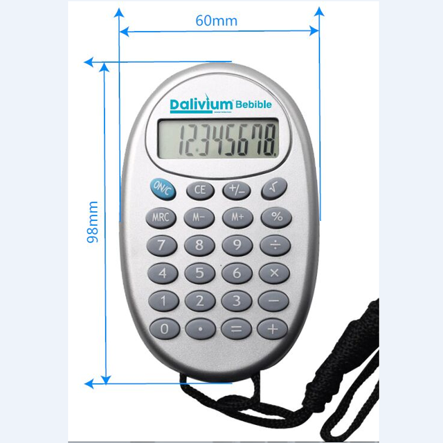 8 digit promotional keychain calculator WITH customer logo print