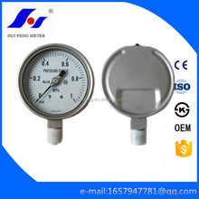 All Stainless Steel Bourdon Tube CNG 0-1MPa Industrial CL1.0 Pressure Gauge