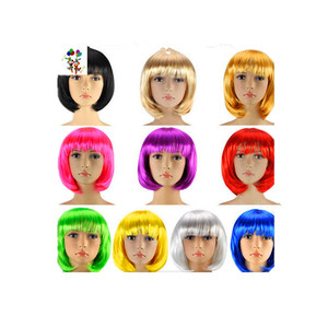 Cheap Colorful Short Bob Synthetic Carnival/Halloween Party Wigs HPC-0002