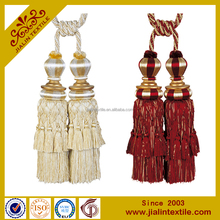 designer home decor tassel fringe rayon tassel curtain tiebacks
