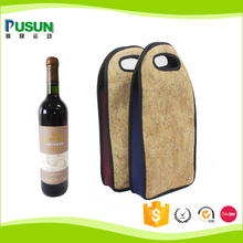 Hot selling promotion neoprene wine tote cooler bag for 750ml