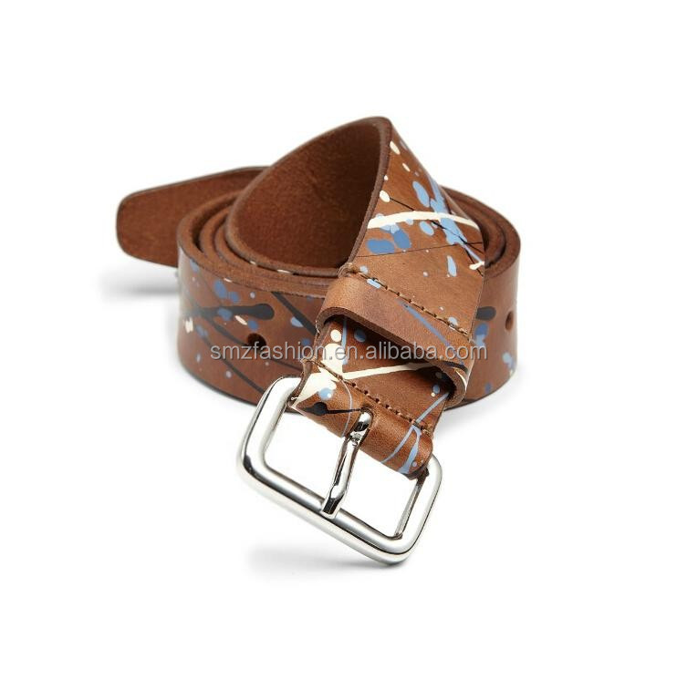 Wholesale Mens Fashionable style print leather belts