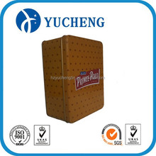 Plain supplier rectangular tin box for cookie/candy