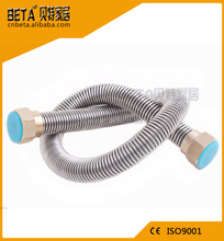 Stainless steel bidet toilet flexible hose with brass fitting connectors