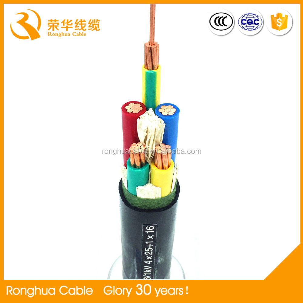 25mm2 dc copper conductor electric wire/power cable