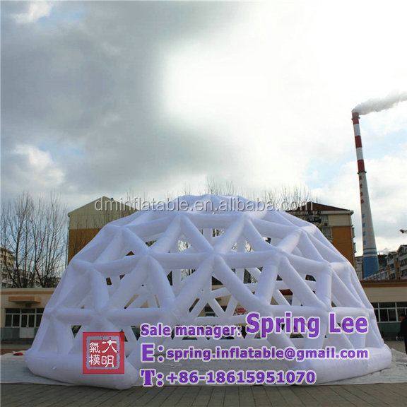 Customized LED decoration air art inflatable dome/inflatable buildings