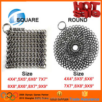 Free Sample Sqaure and Round Shape 4X4 5X5 6X6 7X7 8X8 9X9 Inch 304 316 316L Stainless Steel Chainmaille