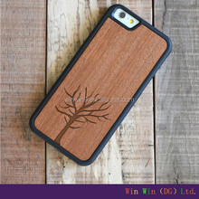 new wooden case walnut wood mobile phone case for iphone 6