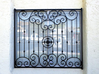 Wrought iron security windows/Hot selling for factory price wrought iron window grill design