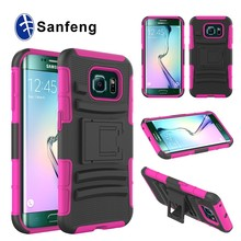 Free Sample PC+SILICON Combo Holster Phone cases for Samsung S6 edge Mobile Phone accesories