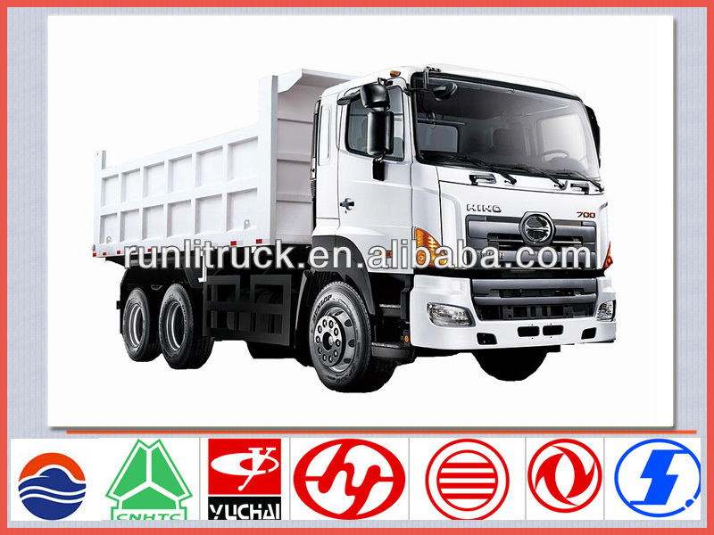 China brand new 6*4 10 ton hino dump truck for sale,left hsnd tipper truck sale