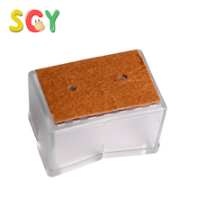 SCY CL001 Transparent Silicon Gel Chair Leg Caps Feet Pads Furniture Table Covers Wood Floor Protectors (4 Pcs)