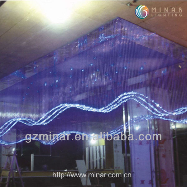 LED Decorative Fiber Optic Crystal Chandelier Pendant Light