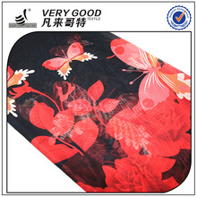 Sublimation flower design printed chiffon fabric