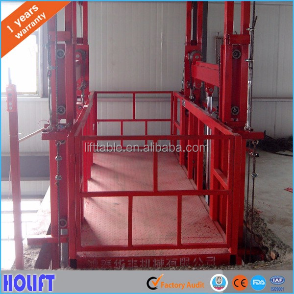Holift brand 3t warehouse goods lift table/hydraulic warehouse cargo lift price