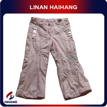 high quality cotton embroidered young sexy girl pants wholesale