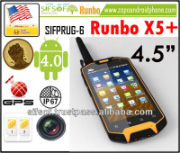 SIFPRUG-6 Runbo X5+ Waterproof Mobile Phone 3G Android Phone GPS Rugged Dustproof, Shockproof