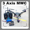 In Stock-Y3 3 Axis Quadcopter FlameWheel W/ MMC Auto Balance Controller Radio/Battery Quad-Multi copter RTF 100% Assambled Assam