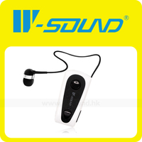 New design 2014 Top selling retractable Stereo bluetooth cheap Clip earpieces