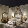 Luxurious European Rococo Wooden Bedroom Set, Palace Royal Hand Carved Bedroom Furniture