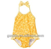 Children one piece swimwear kids bathing suit for beach dress