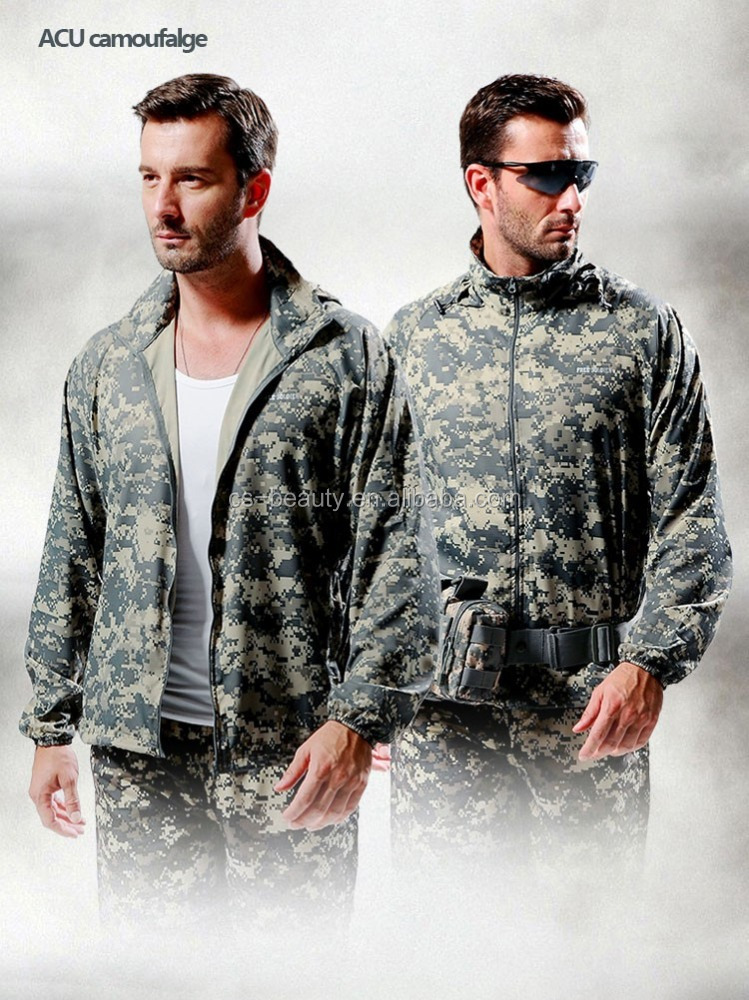 Ultra Thin Sun UV Anti ACU Camo Jackets Fast dry Tactical Jacket Clothes for Summer