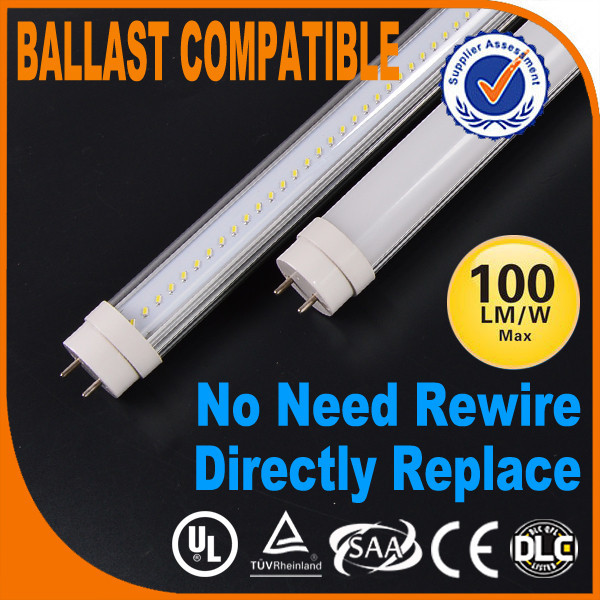 Ballast compatible Certification UL DLC USA America 18w led circular tube