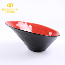 Fashionable Grade A Japanese style black and red ceramic porcelain soup salad ramen noodle bow