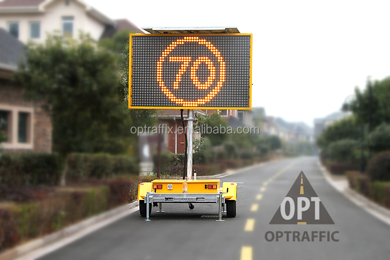 Optraffic Outdoor Solar Led Advertising Electronic Message Board Road Sign Screen Light Vms Mobile Led Display Trailer - Buy Mobile Led Display Trailer,Vms ...