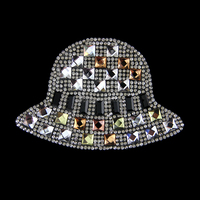 Popular fashion hat and bags accessories rhinestone heat transfer