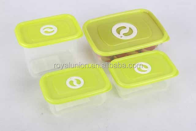 4PC food container with rotating air hole/Microwavable crisper/food container