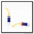 OEM High Quality Puer Copper Gold Plated Y Spade Wire Connector Audio Male Y Spade Electrical Terminal Nakamichi Y Spade Adapter