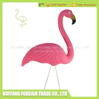 Hand Painted Plastic Pink Flamingo For