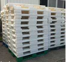 1300*1100*150mm white flat top double plastic pallet producing