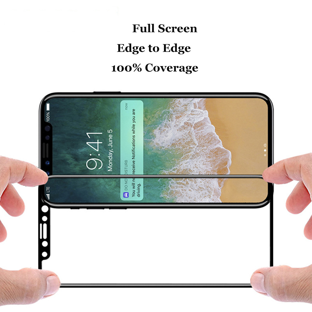 3D full cover tempered glass screen protector for iPhone X screen protector