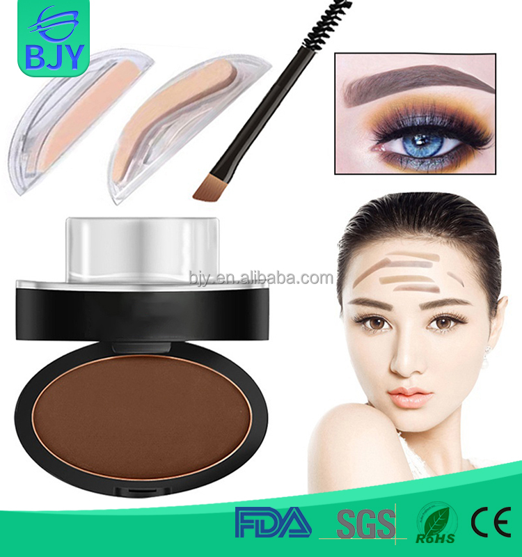 Hot Sale Easily-used Everyday Makeup Brow Stamp Powder With Three Colors Option