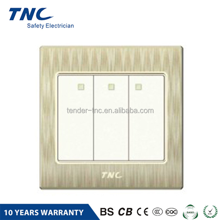 Factory direct sales all kinds of luxury electrical wall switch