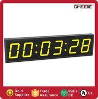 2016 Wholesale Large 4 Inch 6 Digit Yellow Digital Clock