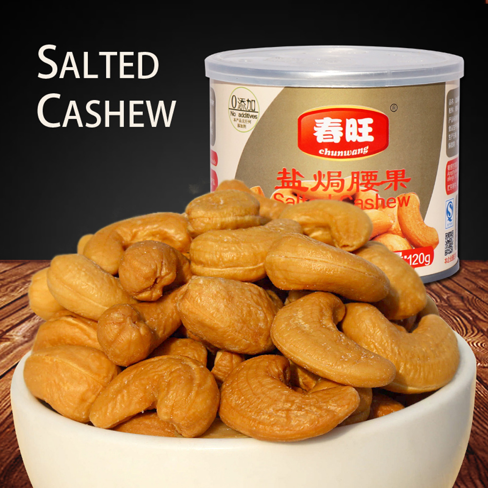 Salty cashew nuts kernel Vietnam cashew delicious savory snack food