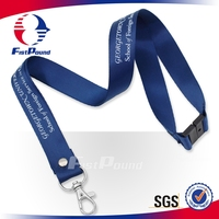 Wholesale High quality screen printing blue satin ribbon