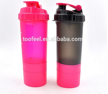 wholesale 2016 hot sale Custom Logo protein plastic Shaker Bottles, promotional ecofriendly Water Bottle With carabiner bpa free