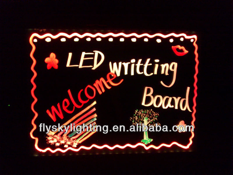 wow.amazing ! neon led glass writing boards hot sell 48 Flash Modes